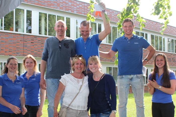 Huldiging John Dekker als winnaar kortebaan Utrecht 2016 met Casanova